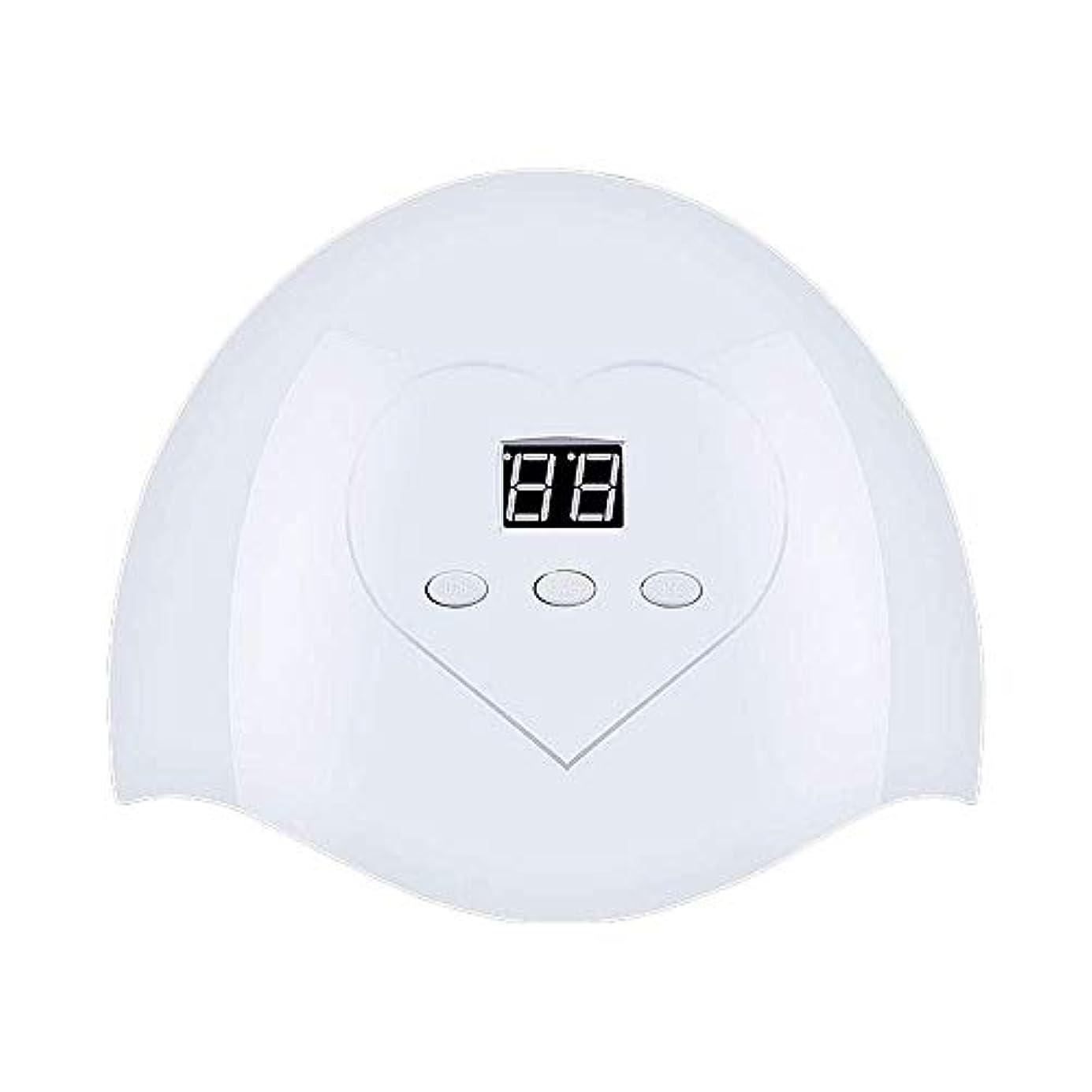 アッティカスパステルソートDHINGM ネイルランプ、高速、非常にエネルギー効率と耐久性のある快適な非UVホワイトライト、いいえ瞳傷害、36W、12 UV + LEDデュアルLED光源、インテリジェントオートセンシング(なしスイッチ)、