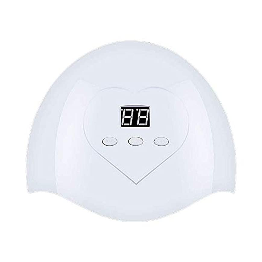 フットボール検出可能孤独DHINGM ネイルランプ、高速、非常にエネルギー効率と耐久性のある快適な非UVホワイトライト、いいえ瞳傷害、36W、12 UV + LEDデュアルLED光源、インテリジェントオートセンシング(なしスイッチ)、