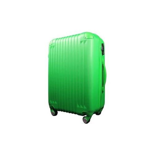 スーツケース/キャリーバッグ 【Mサイズ/中型4~6日】 TSA搭載 軽量 ファスナー グリーン(緑)