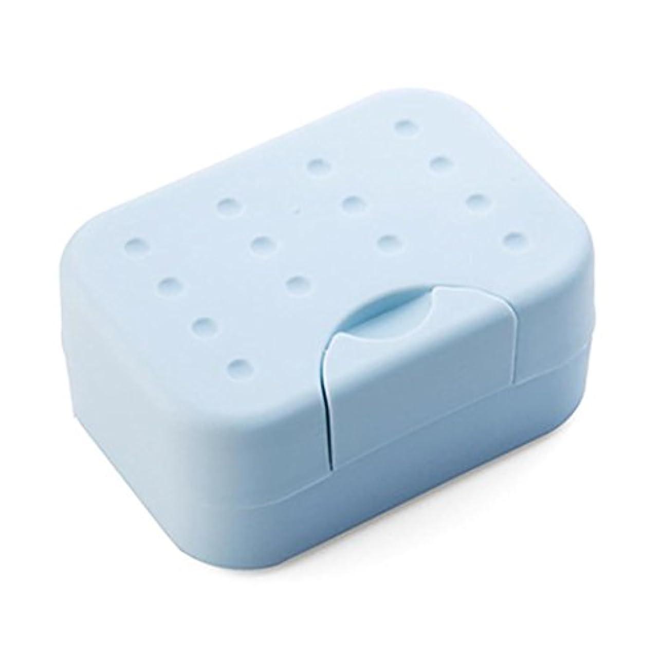 本会議ベイビーexterenカラフルSoap Cute Cartoon旅行ソープディッシュボックスケースホルダーforシャワー one size ブルー