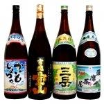 鹿児島芋焼酎 おすすめ4本(三岳・薩摩茶屋・吉兆宝山・かいもしょちゅ) 飲み比べセット