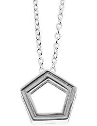 新宿銀の蔵 合格祈願 ごうかく形 (五角形) シルバーネックレス (ギフトボックスセット) 人気 メンズ