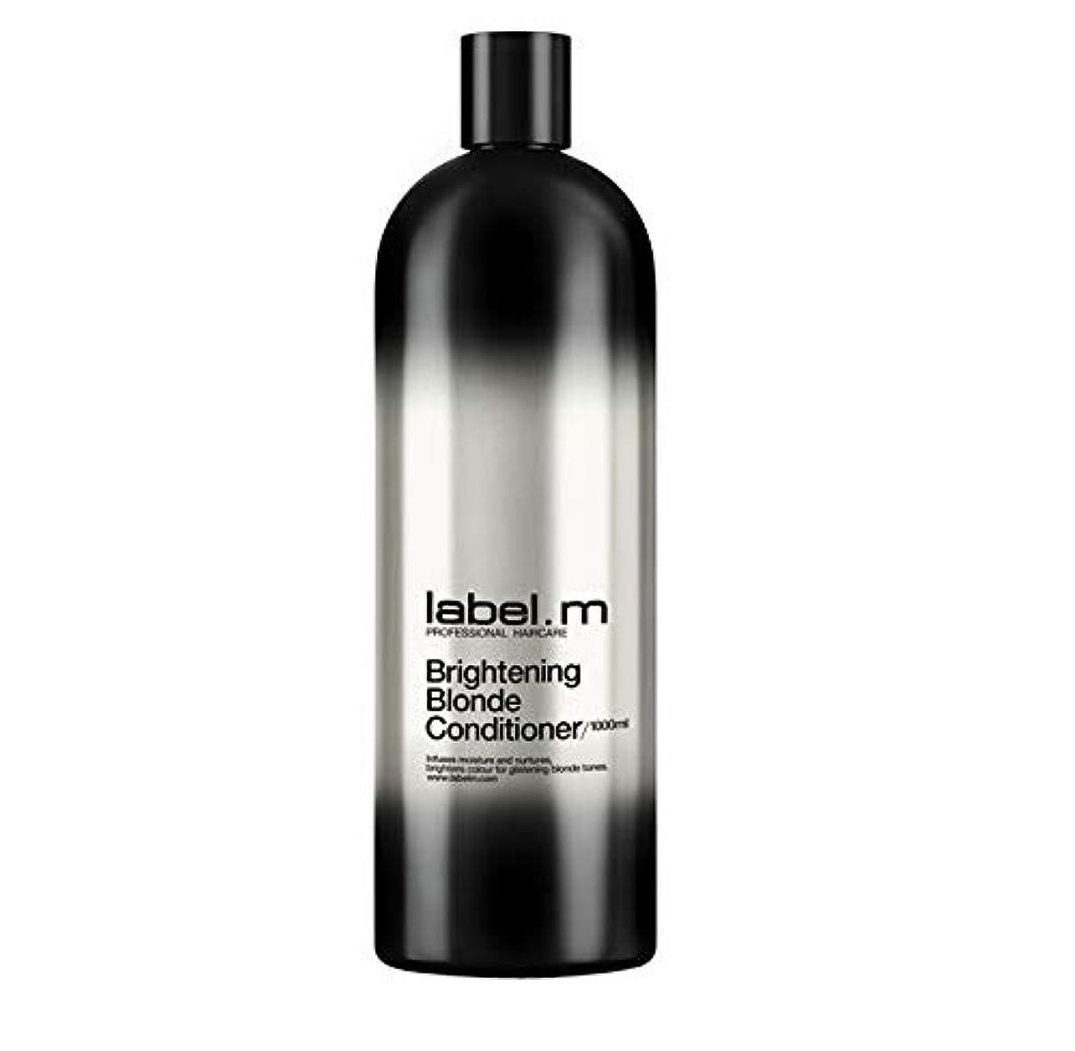 摩擦すり伝導レーベルエム ブライトニングブロンド コンディショナー (髪に潤いと栄養を与えて明るく輝くブロンドヘアに) 1000ml/33.8oz