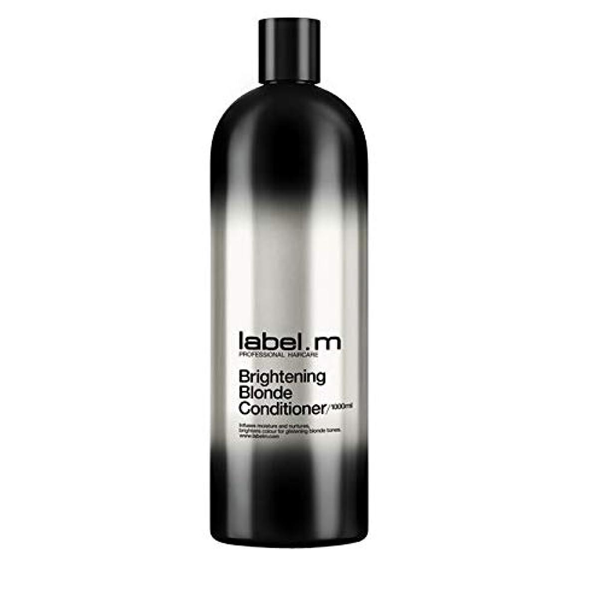 マスク展開するオープニングレーベルエム ブライトニングブロンド コンディショナー (髪に潤いと栄養を与えて明るく輝くブロンドヘアに) 1000ml/33.8oz