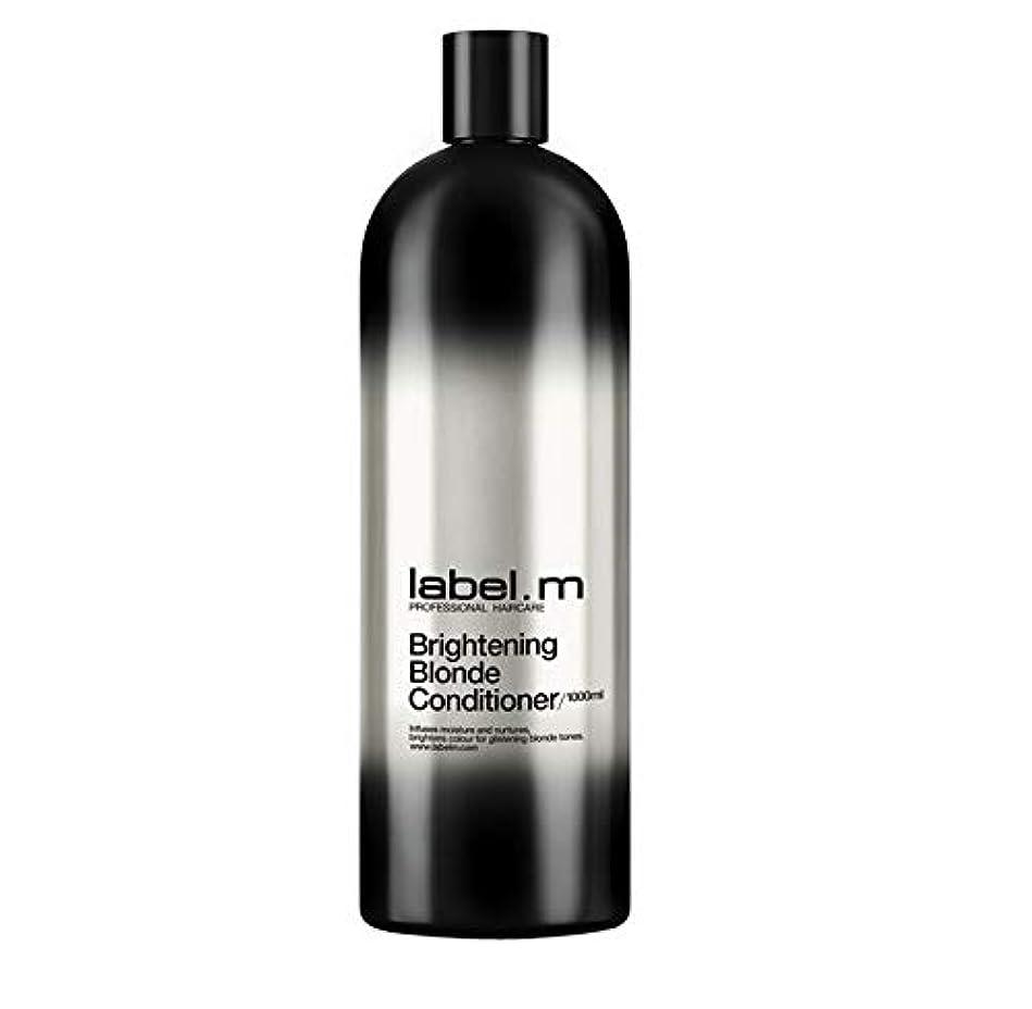 電池いたずらな水曜日レーベルエム ブライトニングブロンド コンディショナー (髪に潤いと栄養を与えて明るく輝くブロンドヘアに) 1000ml/33.8oz