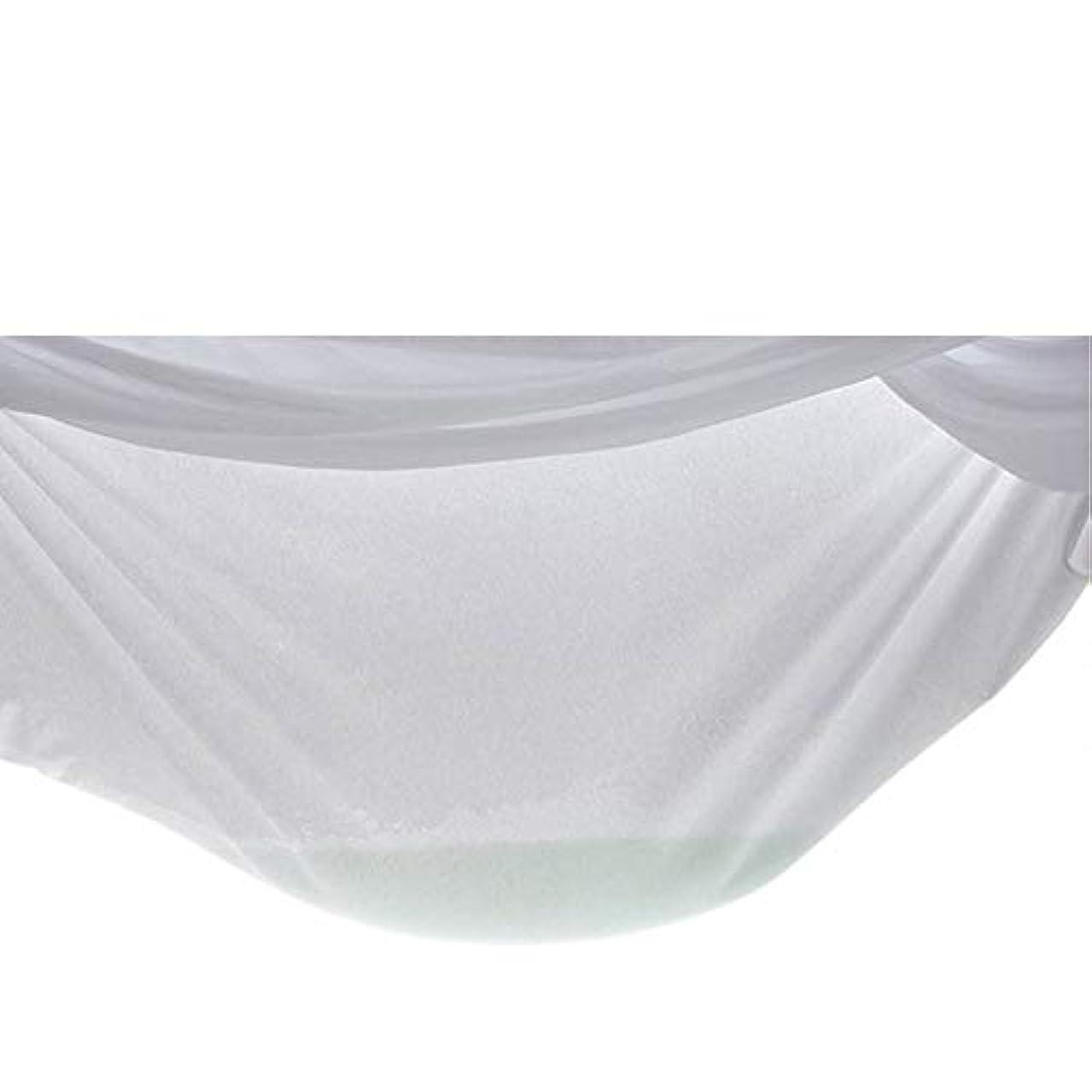 同化するスタウト靴防水ソリッドカラーベッドカバー家具ソファベッドダストカバー不織布不織布ダストカバー装飾大カバー-ホワイト122 * 190 + 20Cm