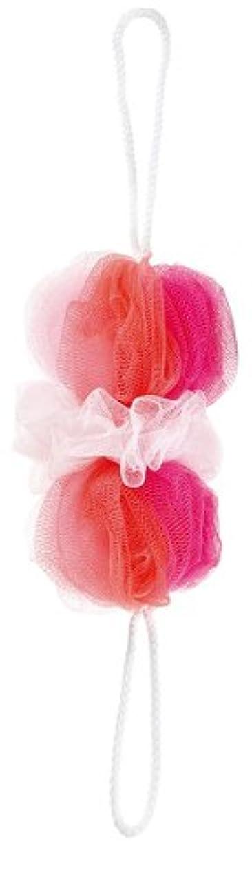 リッチ牛肉調整するマーナ ボディースポンジ 「背中も洗えるシャボンボール」 ミックス ピンク B873P