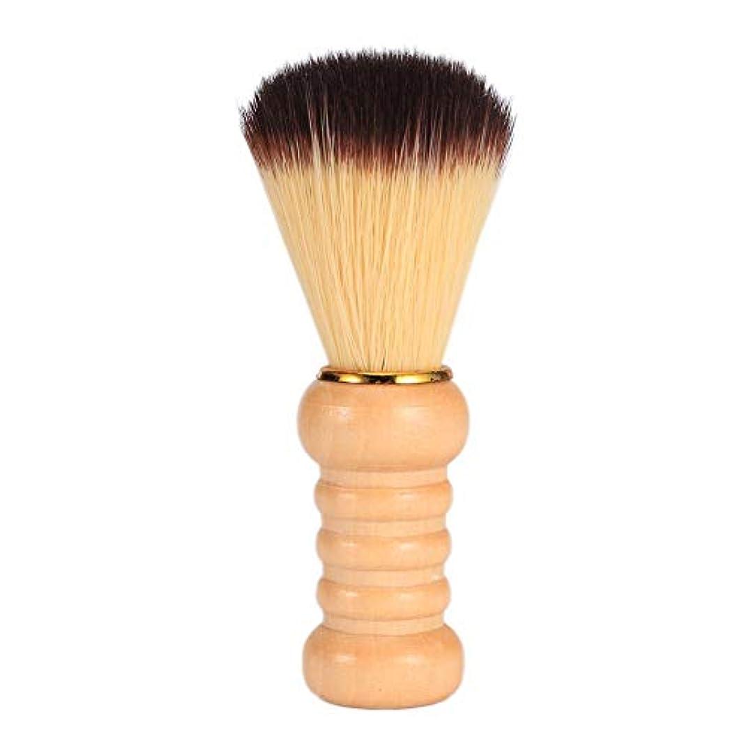 苦行茎消費するPowlancejp シェービング用ブラシ メンズ用 理容洗顔 髭剃り 泡立ち サロン道具