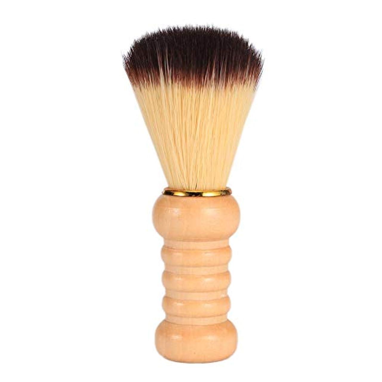 収縮自発的追放Powlancejp シェービング用ブラシ メンズ用 理容洗顔 髭剃り 泡立ち サロン道具