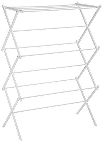 Amazonベーシック 折り畳み式物干しスタンド - ホワイト