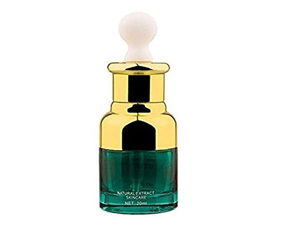 宇宙事故有望0.67oz 20ml Empty Upscale Refillable Green Glass Essential Oil Cosmetics Elite Fluid Dropper Bottles Container...