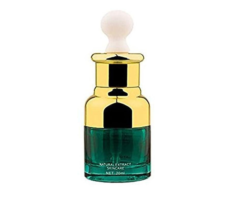 ぼんやりした備品一時的0.67oz 20ml Empty Upscale Refillable Green Glass Essential Oil Cosmetics Elite Fluid Dropper Bottles Container...