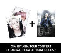 JYJ/キム・ジュンス(XIA) ☆ ASIA TOUR CONCERT 公式応援グッズ ☆ Bromide set + Poster