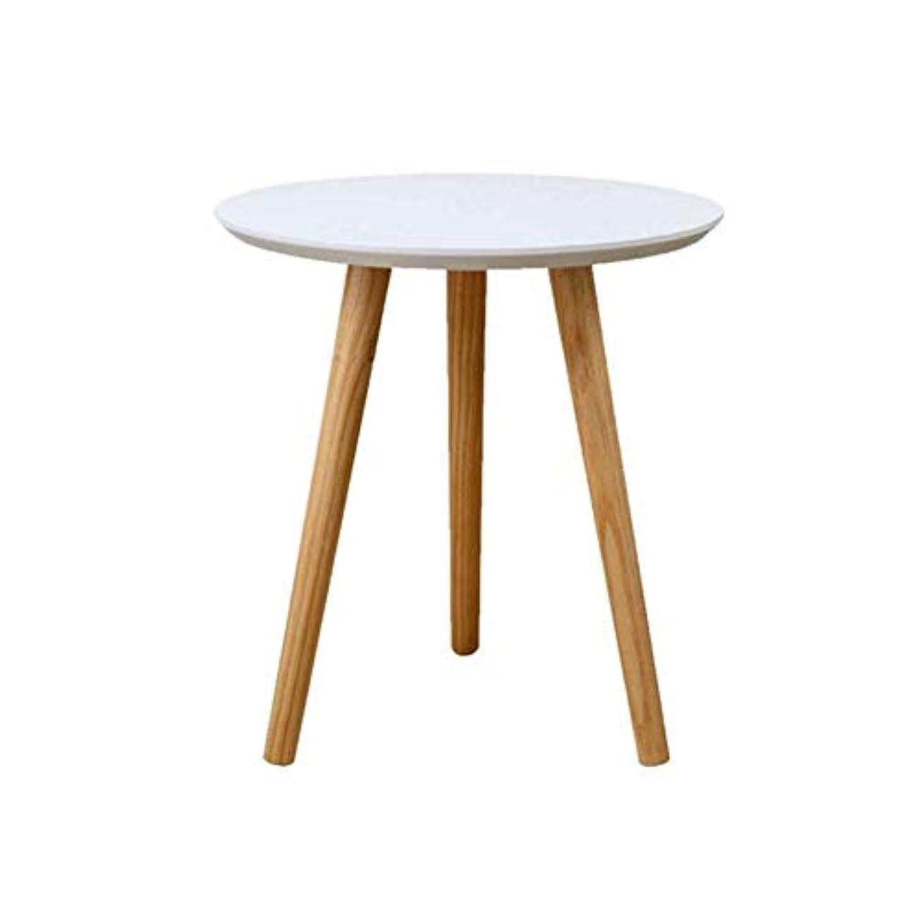 俳句ためにステップテーブル?チェアセット 表 机 レトロ MDF 円形 側 コーヒー ダイニング ランプ 終わり 表 木材 白 バルコニー 生活 ルーム CJC (サイズ さいず : 40x42cm)