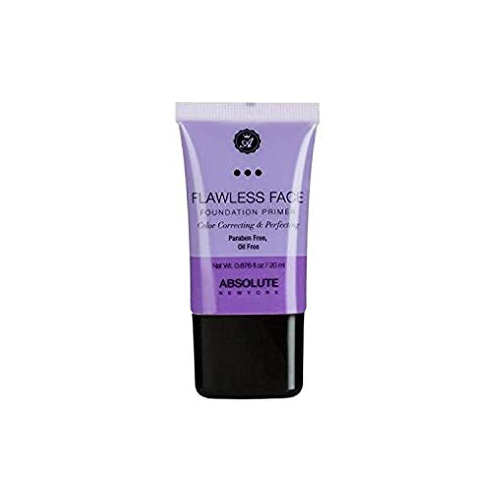 寛容な排気引き出しABSOLUTE Flawless Foundation Primer - Lavender (並行輸入品)