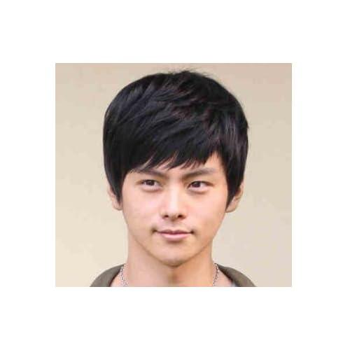 (FIS-I) 男性 用 カツラ ウイッグ メンズ ヘア 普段用 髪 コスプレ ヘアー 用 かつら (4.ブラック)