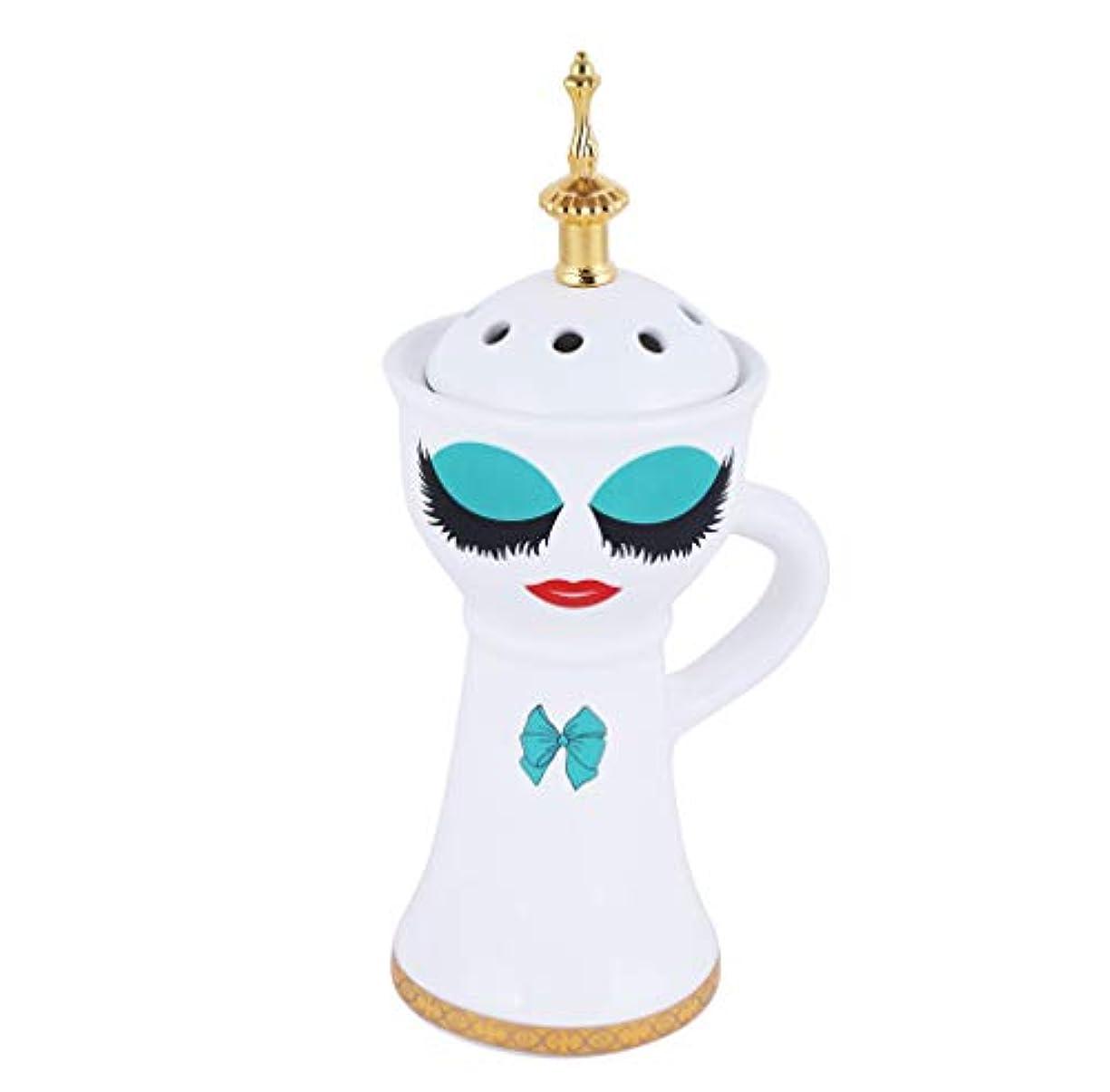 学部長純粋な灰Nexxa Beautiful Ceramic Incense Bakhoor/Oud Burner Frankincense Incense Holder with Attractive Eyes, Non Electric, Best for Gifting IB-026 (Blue)