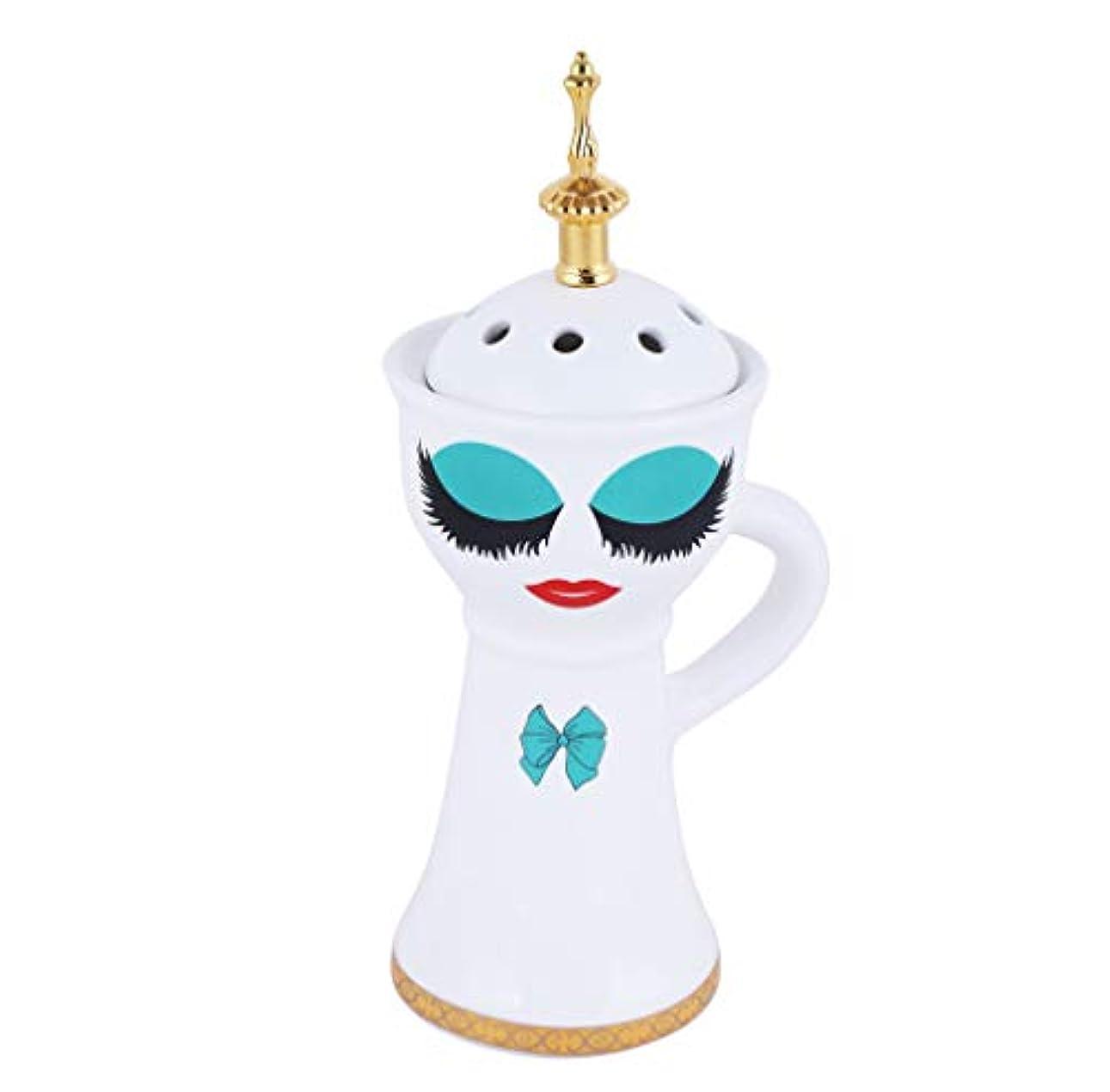 富飽和する秋Beautiful Ceramic Incense Bakhoor/Oud Burner Frankincense Incense Holder with Attractive Eyes, Non Electric, Best for Gifting IB-026