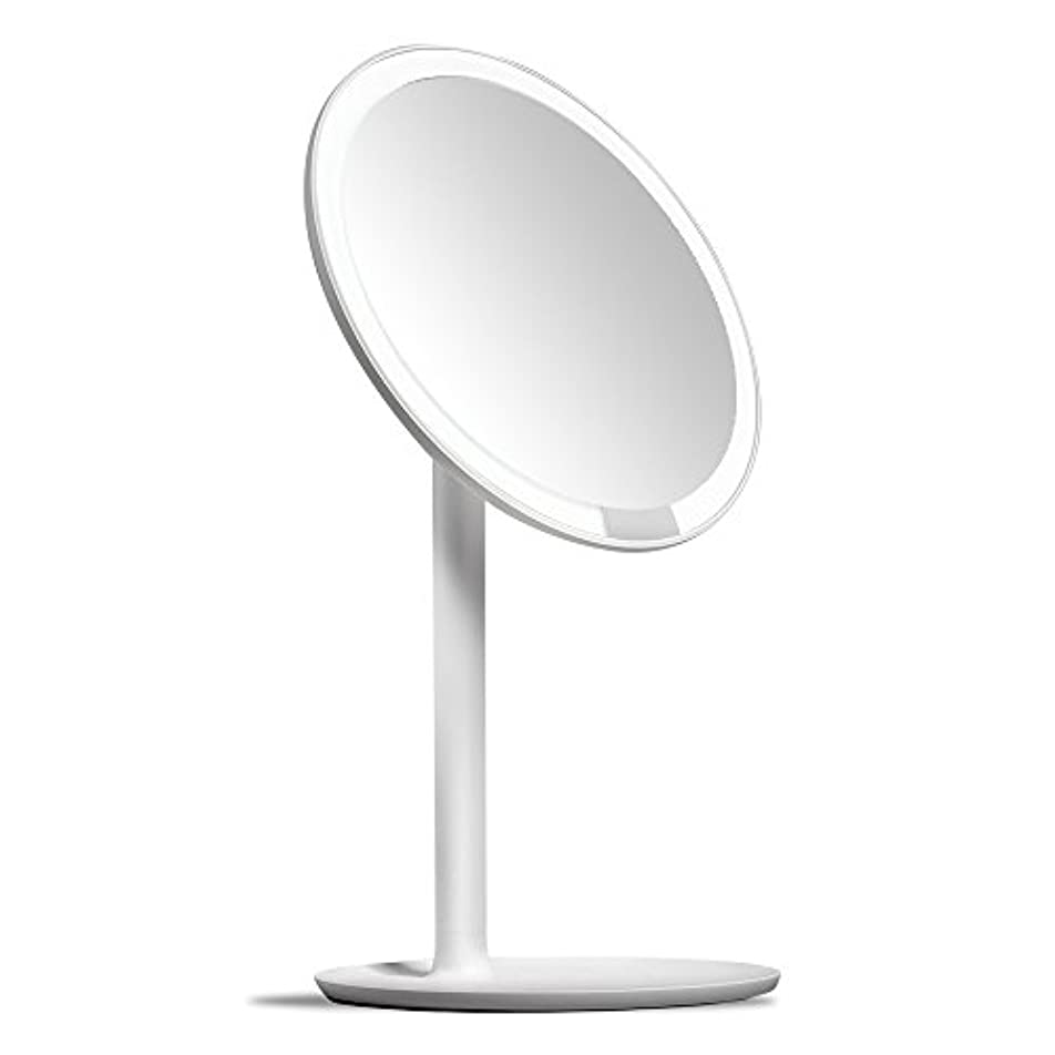 素晴らしき百年女性AMIRO 化粧鏡 化粧ミラー LEDライト付き 卓上鏡 女優ミラー 3段階明るさ調節可能 コードレス 充電式