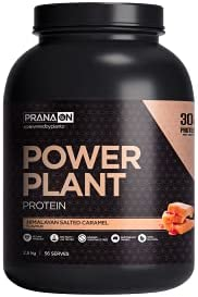 PranaOn Power Plant Protein - Himalayan Salted Caramel 2.5kg, Himalayan Salted Caramel 2.8 kilograms