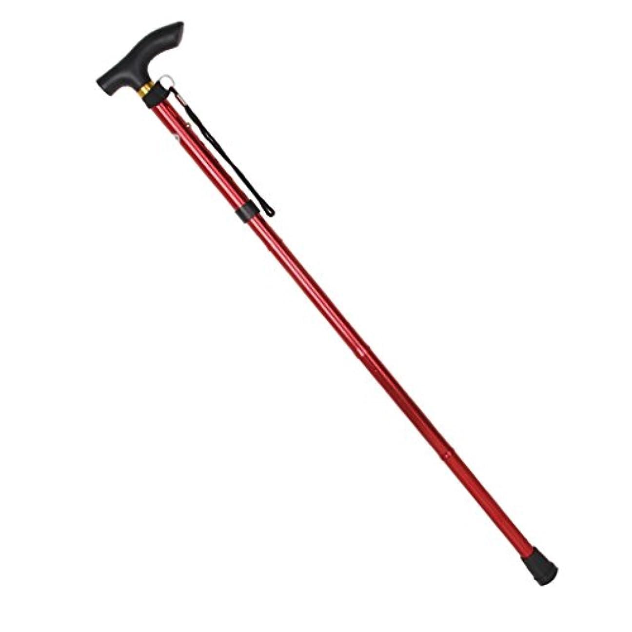 寓話綺麗なマーキーKOZEEYトレッキング ウォーキング ハイキング スティック ポール 調整可能 アンチショック 登山杖 赤