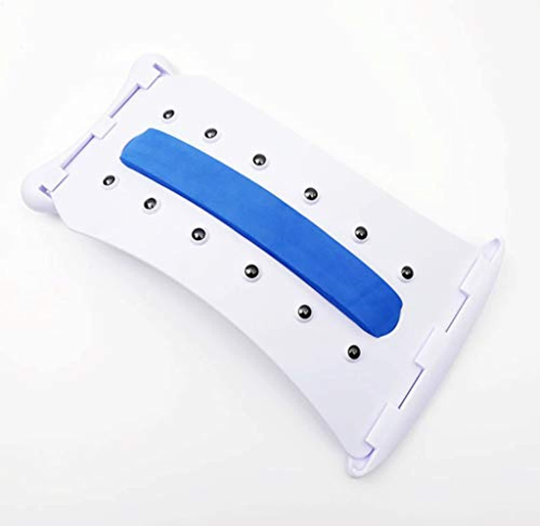 腰椎サポートバックマッサージブレースマッサージストレッチャーリラクゼーション12マッサージポイント背骨の痛みを緩和ストレッチ機器フィットネス