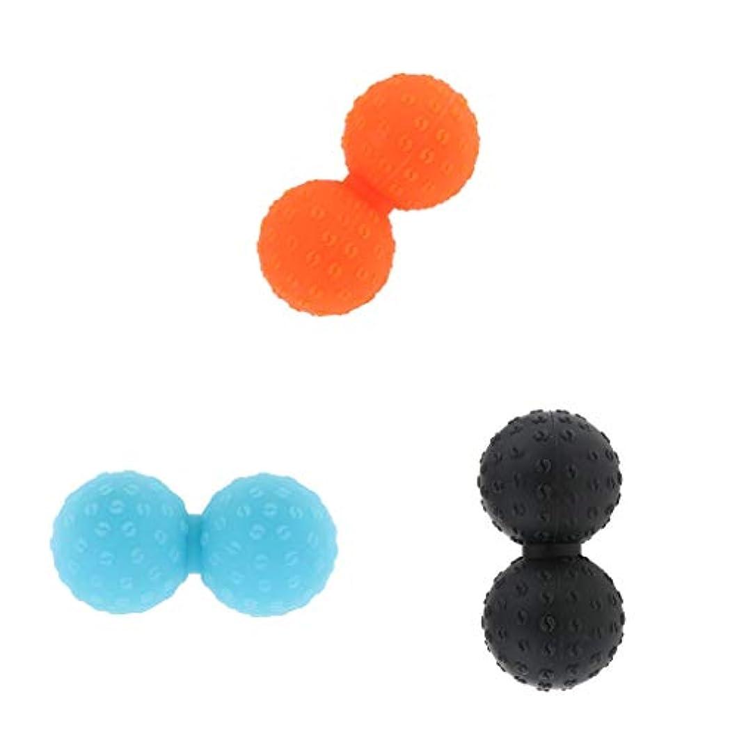 本体候補者主張FLAMEER シリコーン マッサージボール 変形しない ストレッチボール 3ピース 全身 ツボ押しグッズ