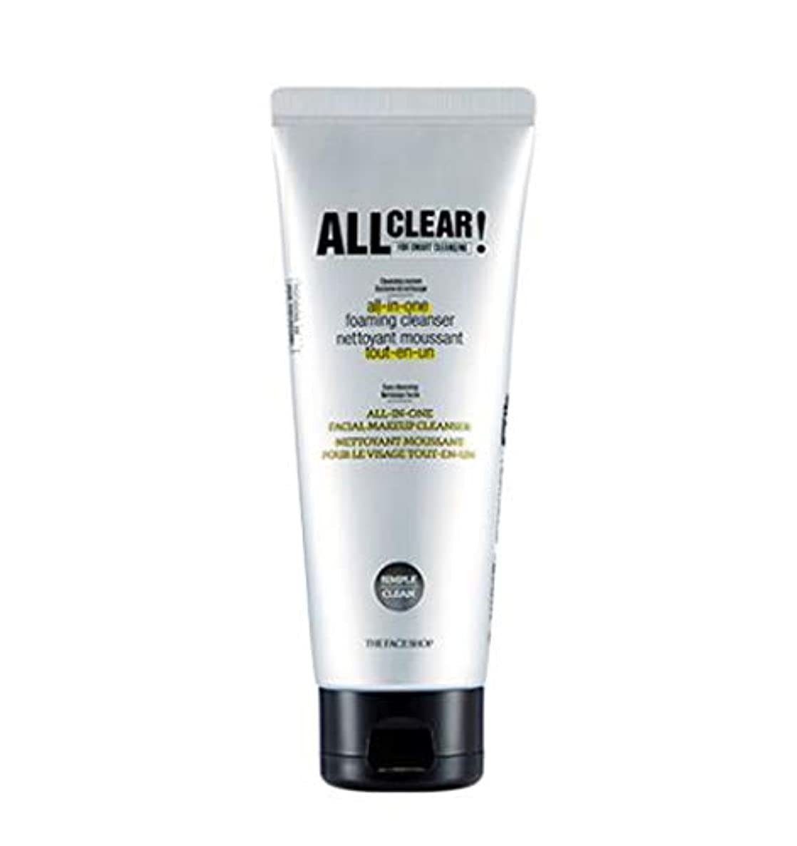 咲くシティ可塑性[ザ?フェイスショップ] THE FACE SHOP [オール クリア オールインワン クレンジング フォーム150ml / 洗顔料] All Clear All-in-one Cleansing Foam 150ml...