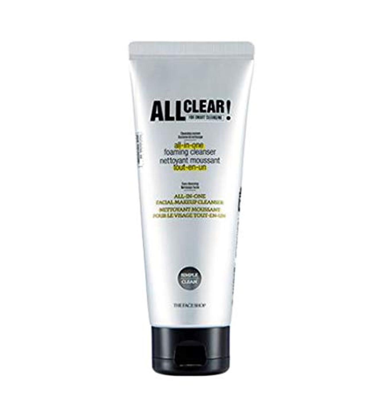 剥ぎ取る快適ステープル[ザ?フェイスショップ] THE FACE SHOP [オール クリア オールインワン クレンジング フォーム150ml / 洗顔料] All Clear All-in-one Cleansing Foam 150ml...