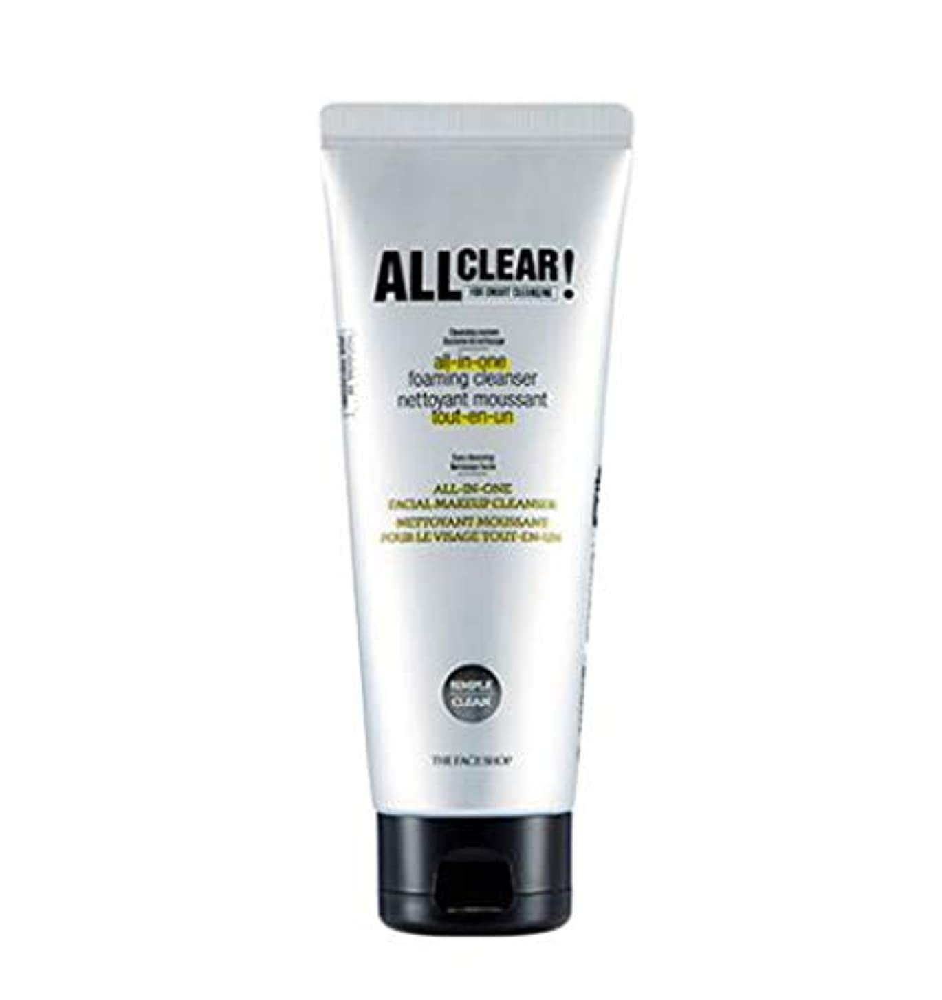 葉を集める対立支出[ザ?フェイスショップ] THE FACE SHOP [オール クリア オールインワン クレンジング フォーム150ml / 洗顔料] All Clear All-in-one Cleansing Foam 150ml...