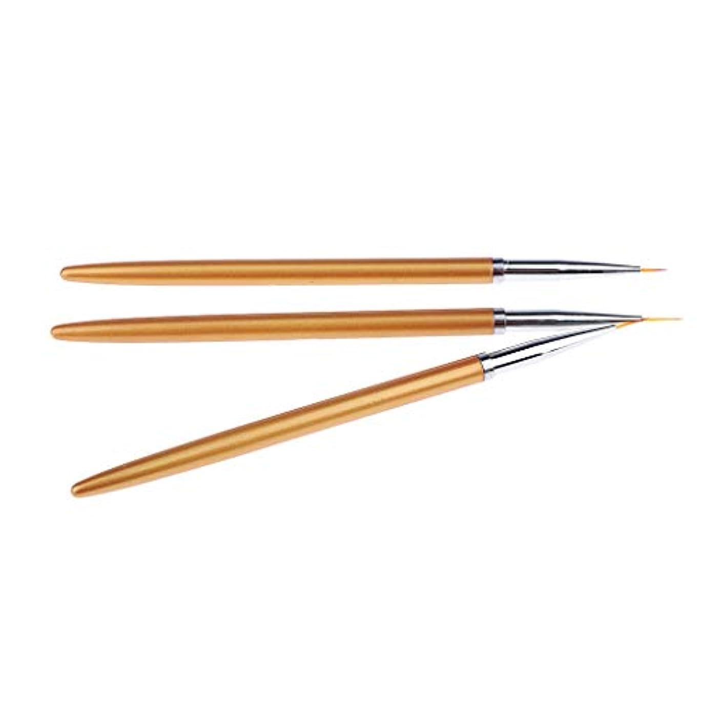 ピッチプラグ文句を言うSM SunniMix ネイルアートブラシ 絵画ペン プラスチック ネイルアートペンブラシセット 3本
