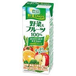 農協 野菜Days 野菜&フルーツ100% 200ml紙パック×18本入×(2ケース)