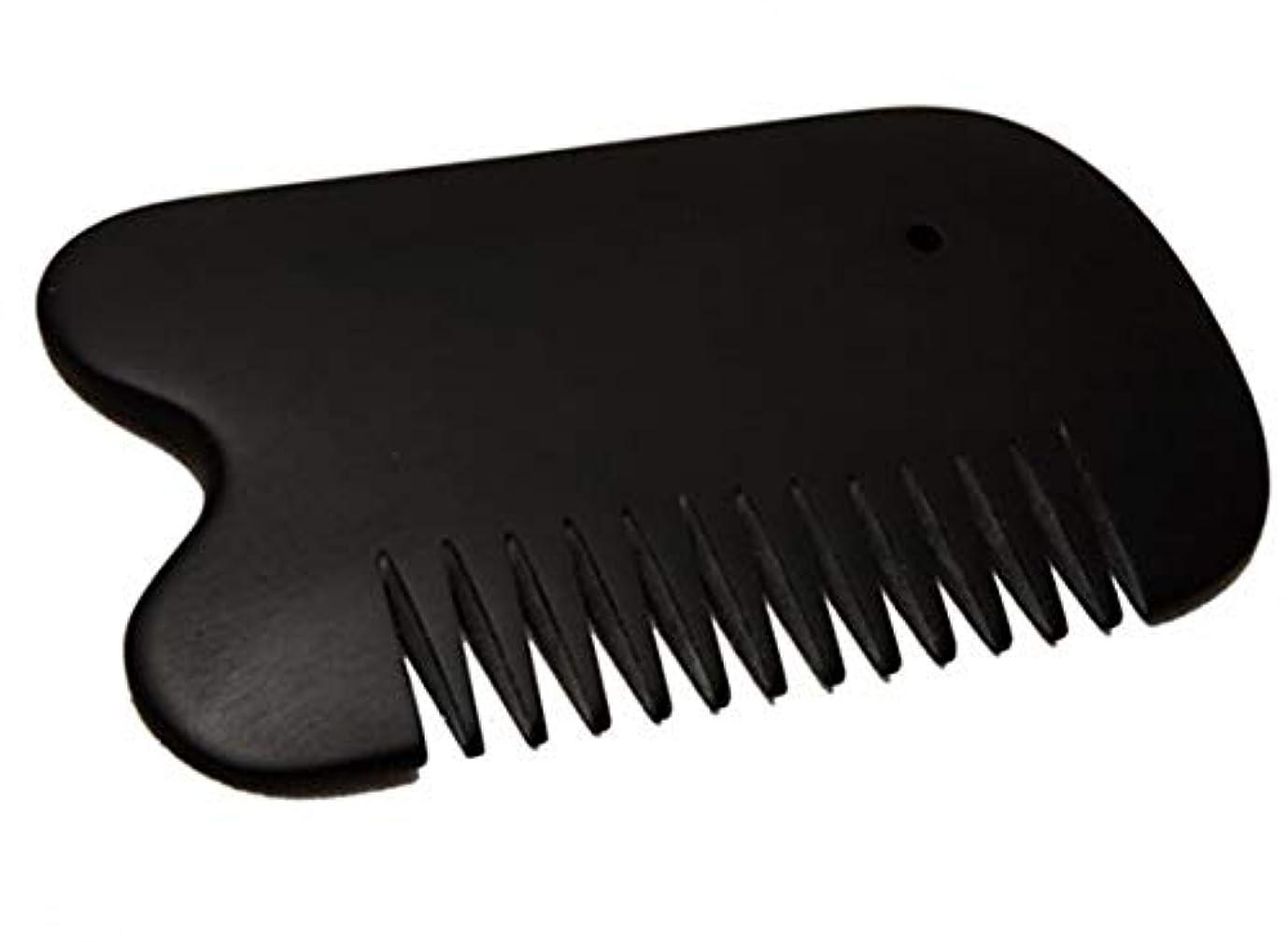 積分ブームコウモリカッサ 天然「泗濱浮石」頭痛?白髪?抜け毛防止 櫛型かっさ板 プレート黒