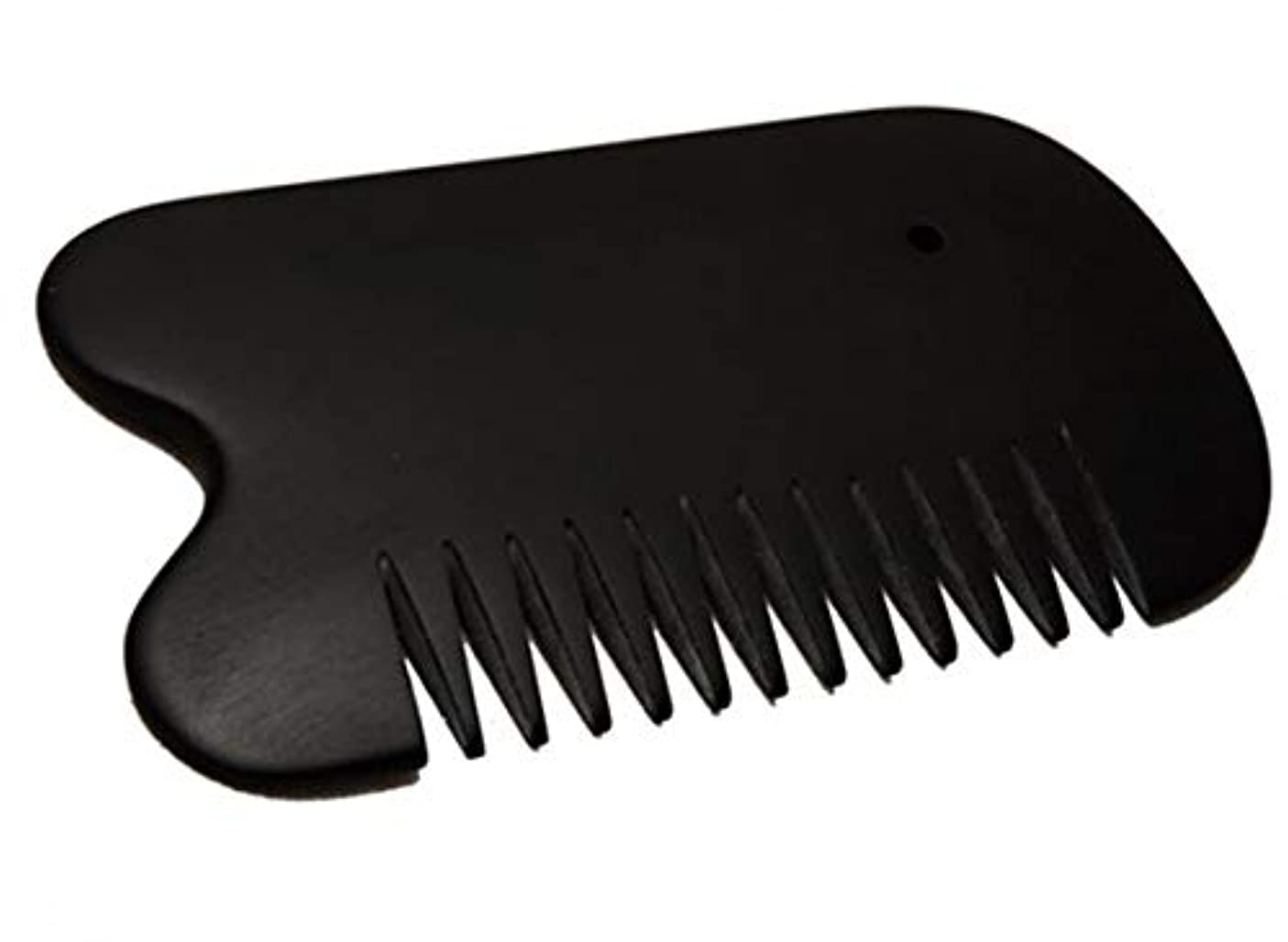 階層やろう有効なカッサ 天然「泗濱浮石」頭痛?白髪?抜け毛防止 櫛型かっさ板 プレート黒
