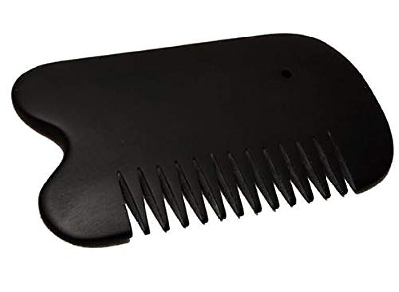 いくつかのクローンバルコニーカッサ 天然「泗濱浮石」頭痛?白髪?抜け毛防止 櫛型かっさ板 プレート黒