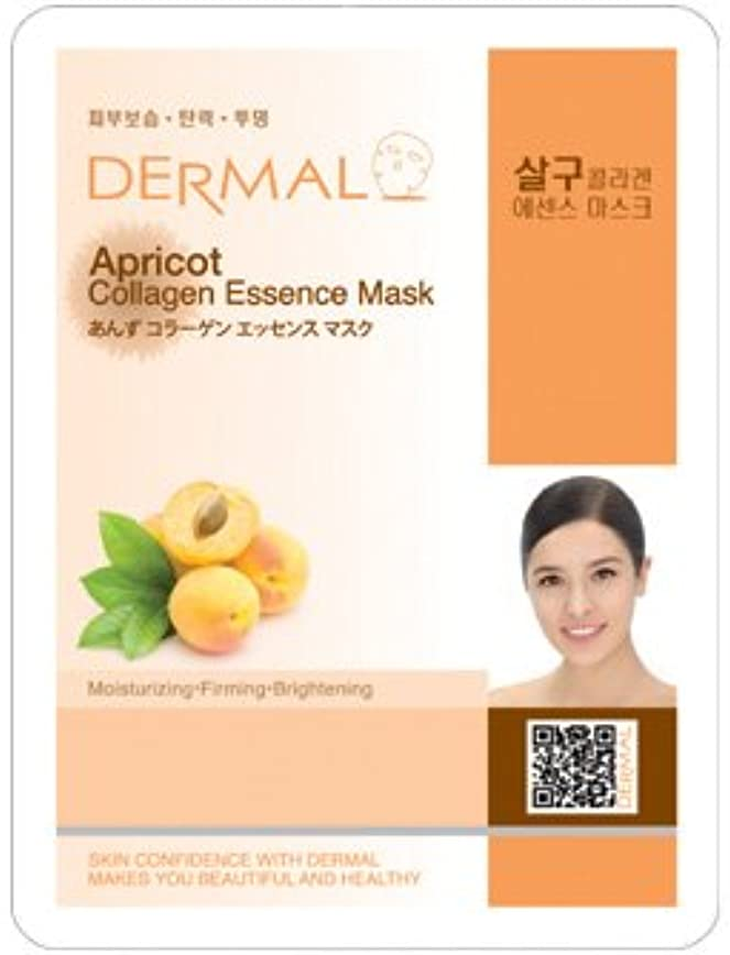見分ける従来の腐食するシート マスク あんず ダーマル Dermal 23g (10枚セット) 韓国コスメ フェイス パック