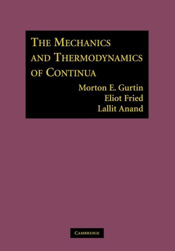 Download The Mechanics and Thermodynamics of Continua 1107617065