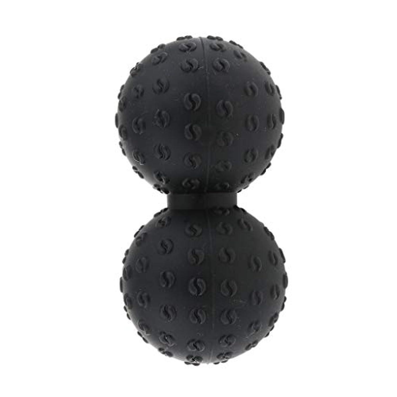 調停する価値のない不透明なFLAMEER 全6色 マッサージボール 指圧ボール ピーナッツ ダブルラクロスマッサージボール ツボ押しグッズ - ブラック, 説明のとおり