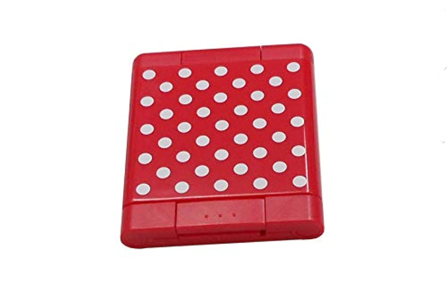 モバイル難民大プレスアップ3面ミラー 水玉 レッド