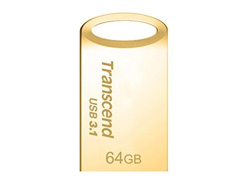 Transcend USBメモリ 64GB USB3.1 & USB 3.0 キャップレス ゴールド 耐衝撃 防滴 防塵 TS64GJF710G