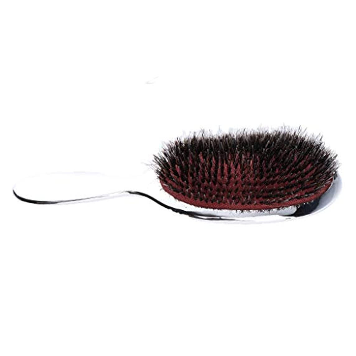 トリップくつろぎオーストラリア男性の胸毛のナイロン毛のひげ口ひげの手のハンドルdetanglerの櫛 - シルバー