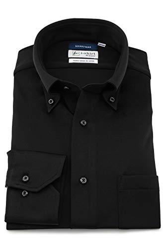 [ハルヤマ] アイシャツ i-Shirt 完全ノーアイロン 360°ストレッチ 速乾 長袖 メンズ ブラック M151190022 L82(首回り41cm×裄丈82cm)-(日本サイズL相当)