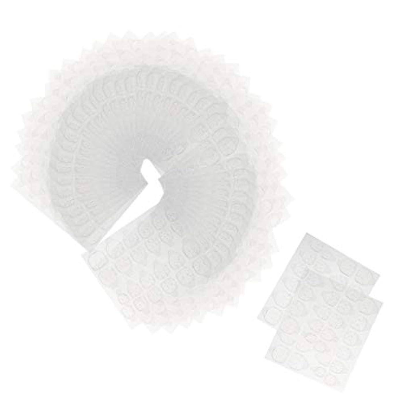 はい安全性警報Toygogo ネイルタブ ネイル接着剤ステッカー 両面接着 マニキュアタブ 両面テープ 約240ピースセット
