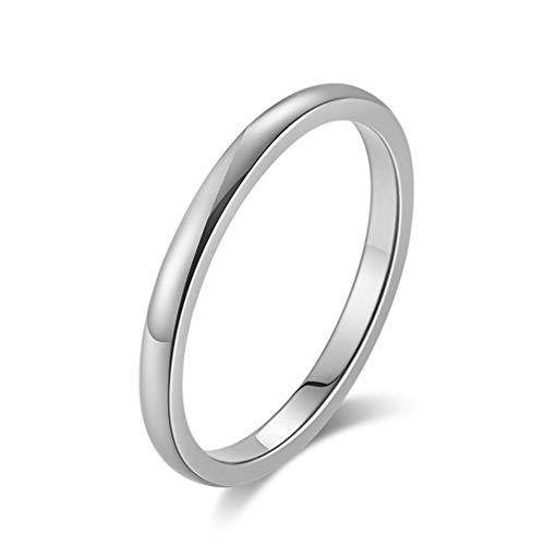 f9f0f4c702a2 Y-YING 2mm サージカルステンレス リング 指輪 結婚指輪 レディースリング ステンレスリング メンズリング ペアリングに 16号  色・シルバー サイズが合わないのを ...