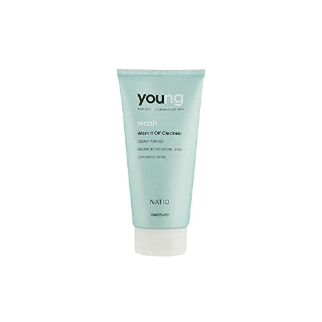 若いウォッシュそれオフクレンザー(150ミリリットル) x2 - Natio Young Wash It Off Cleanser (150ml) (Pack of 2) [並行輸入品]