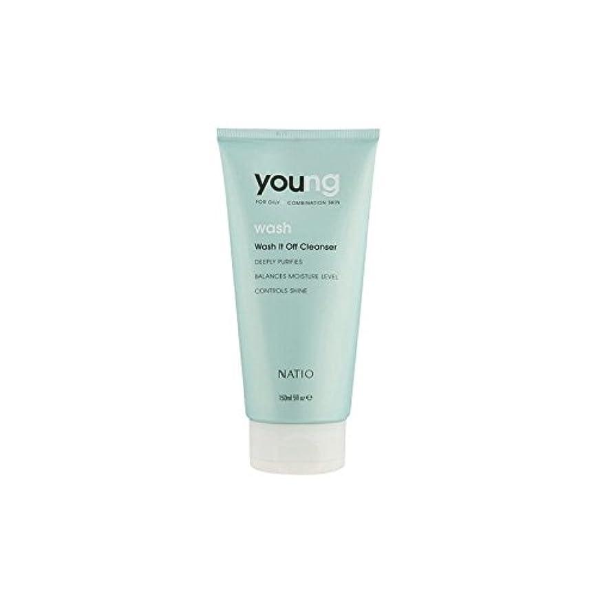 財産地元状態若いウォッシュそれオフクレンザー(150ミリリットル) x4 - Natio Young Wash It Off Cleanser (150ml) (Pack of 4) [並行輸入品]