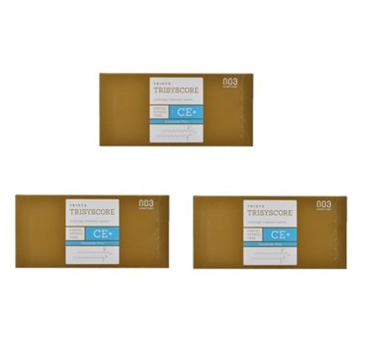 粗い本能力【X3個セット】ナンバースリー トリシスコア CEプラス (ヘアトリートメント) 12g × 4包入り