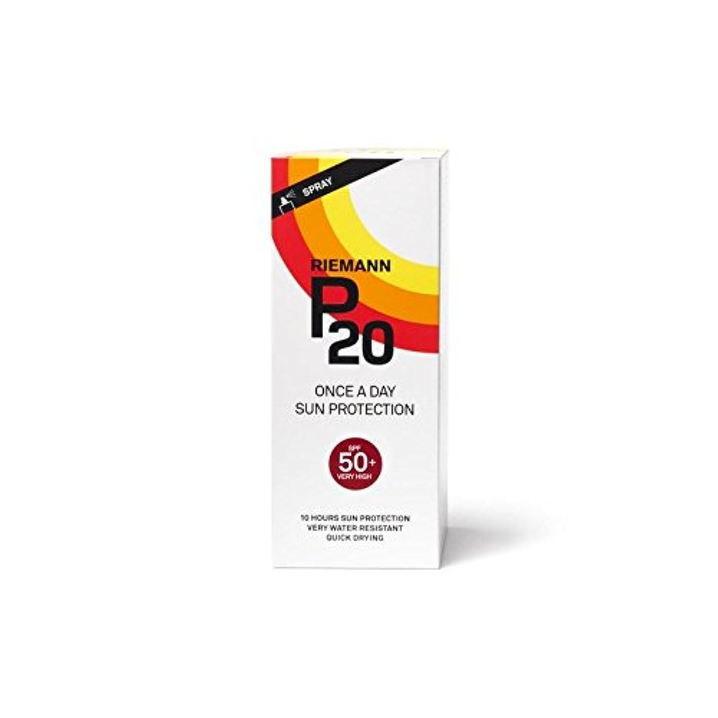 インタフェース適度にシュートRiemann P20 Once a Day Sun Filter 200ml SPF50+ (Pack of 6) - 一日の日に一度リーマン20は、200ミリリットル50 +のをフィルタリング x6 [並行輸入品]