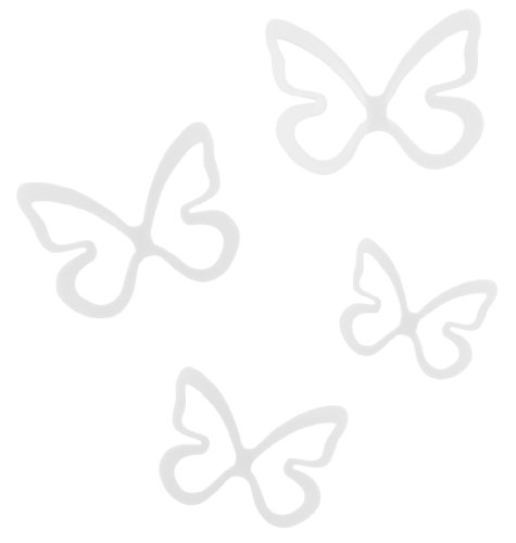 umbra パピロン バタフライ 4pc ホワイト2470065‐660