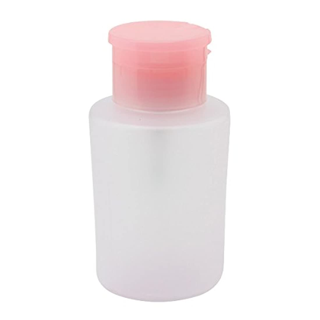 言語学スリーブ有彩色のプッシュ式 ポンプディスペンサー 200ml ピンク [ ディスペンサー 空ボトル 空容器 ボトル 容器 ポンプ リムーバー ネイルケア ]